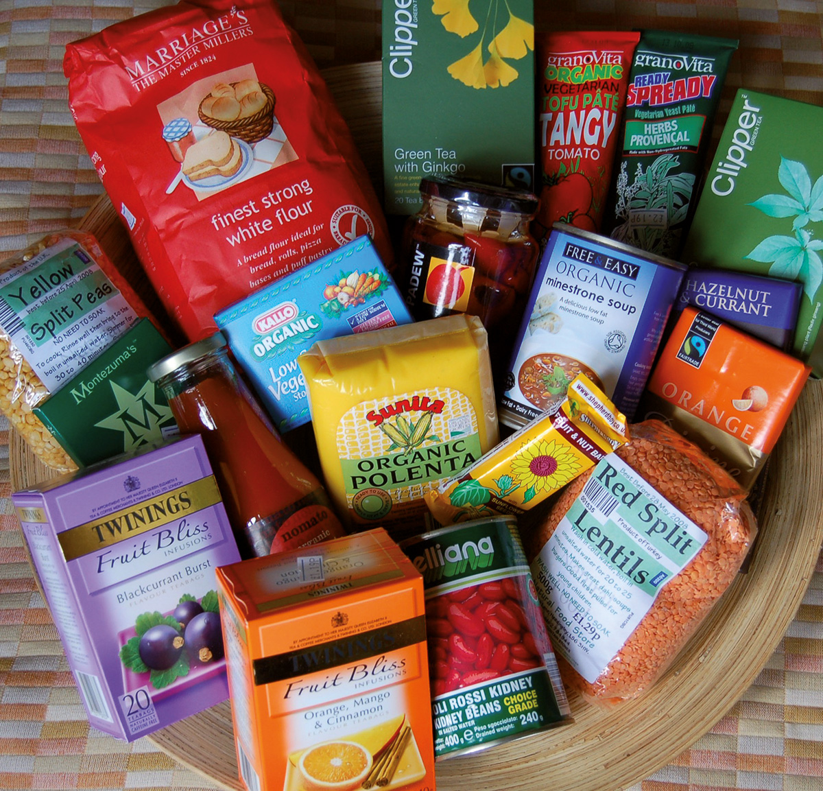 Some of the products on sale in the Natural Food Store